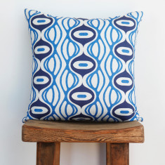 Boheme breakwater blue cushion