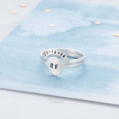 Personalised Eclipse Ring Set