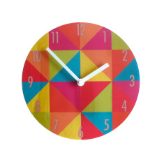 Objectify bright grid with numerals wall clock