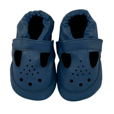 Brilliantly blue baby shoes