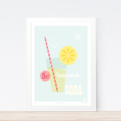 Lemonade soda art print