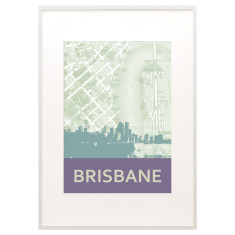 Brisbane skyline print