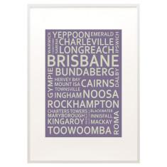 Brisbane text print