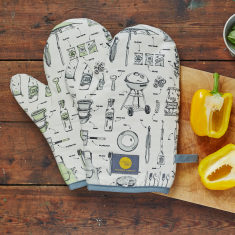 British Barbecue organic oven mitt