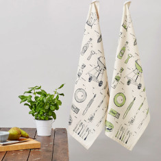 British barbecue organic tea towel