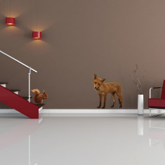 British fox and squirrel wall stickers