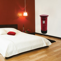 British post box wall sticker