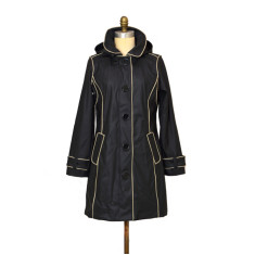 Brody black Piper rubber raincoat