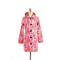 Pipduck Brody raincoat in hibiscus