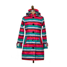 Brody lolly stripe rubber raincoat