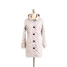 Pipduck Brody raincoat in polka dot
