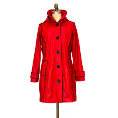 Brody red Piper rubber raincoat