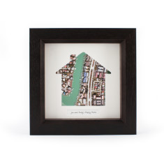 Our home personalised map print (choose your location)