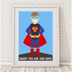 Super daddy superhero print