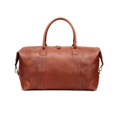 TheCultured Leather Travel Weekender Bag In Tan