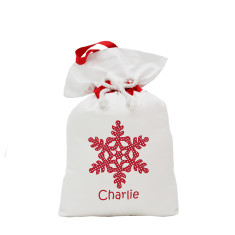 Christmas Santa sack with snowflake