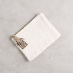 Masai mara clutch in White hide