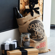 Personalised Bryanston hessian Christmas sack