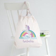 Personalised Unicorn Library Bag