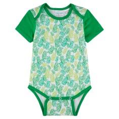 Leafy greens short sleeve baby onesie