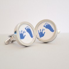 Child's Hand & Footprints Cufflinks