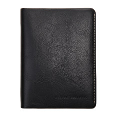 Conquest leather wallet in black