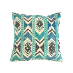 Kilim collection turquoise floral cushion