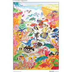Great Barrier Reef colouring poster