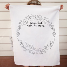 Things that make me happy design DIY tea towel kit