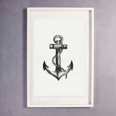 Anchor Print Wall Art on Handmade Paper