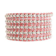 Chan Luu crystal pink 5 wrap bracelet