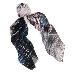 Manhattan bridge silk scarf