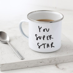You Super Star Enamel Mug