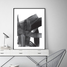 Abstract strokes #1 art print