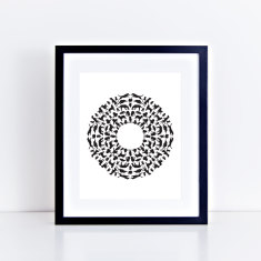 Puppy mandala lazy labs art print