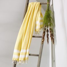 Bronte Turkish Towel In Sunshine Yellow