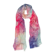Star burst colourful luxe scarf