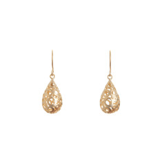 Gold-plated bubble teardrop earrings