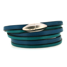 Teal & turquoise bullet bracelet