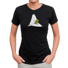 Flight of the bumblebee women's black t-shirt