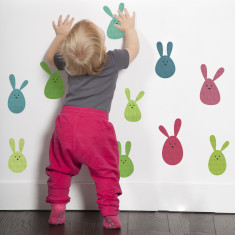 Bunny blob rabbit fabric wall stickers
