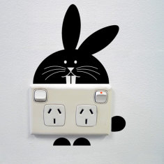 Bunny wall sticker for power points