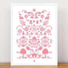Garden print in purdy pink
