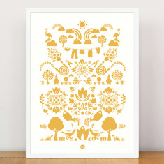 Bees knees garden print in yellow