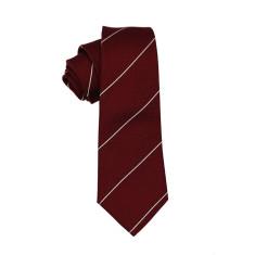 Burgundy stripe tie