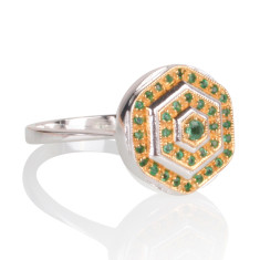 Lady Lorna emerald ring