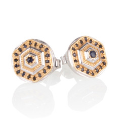 Lady Lorna sapphire stud earrings