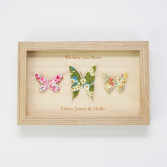 Personalised Liberty print butterflies for Mum