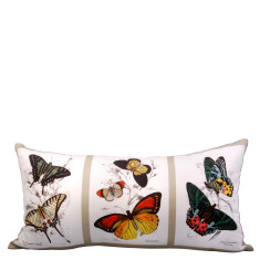 Butterfly postcards cushion