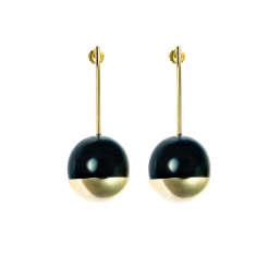 Lizzy horn drop earrings
